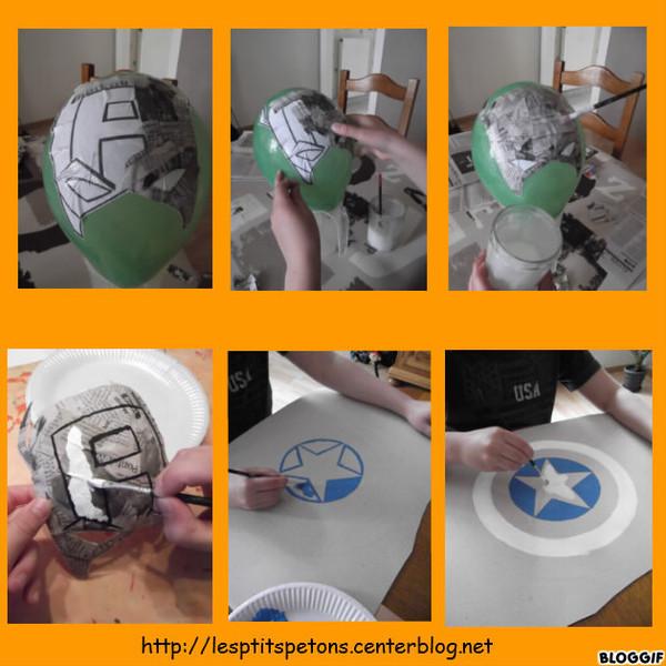 Masque et bouclier captain america - Comment faire un masque en papier ...