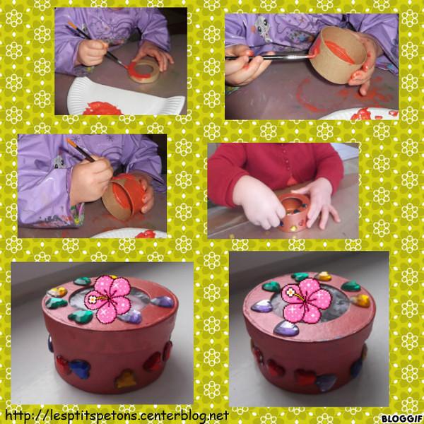 Fete des meres - Fabrication de boite a bijoux ...